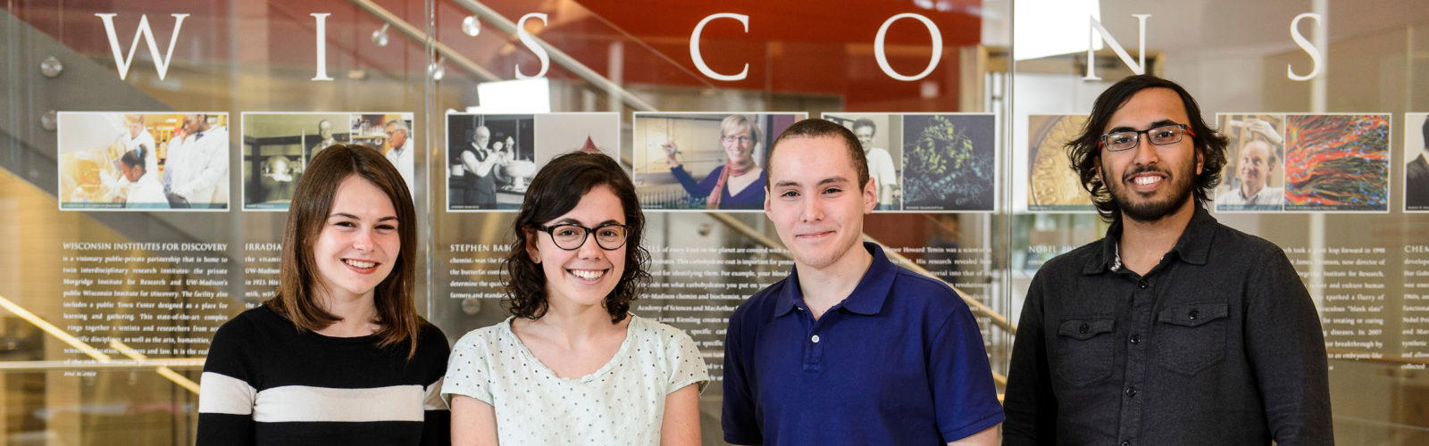 2016 Goldwater Scholars: Bailey G. Flanigan, Hannah M. Mast, Idris Boukahil and Thejas S. Wesley