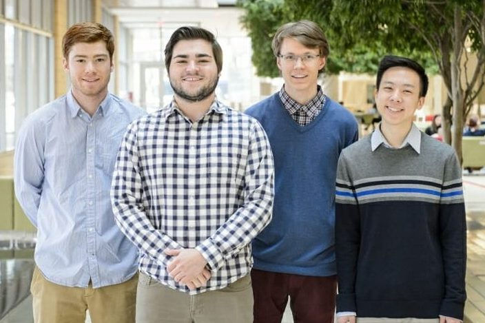 2018 Goldwater Scholars and Honorable Mentions: Roger Waleffe, Jason Mohoney, Soren Rozema, and Nathan Wang